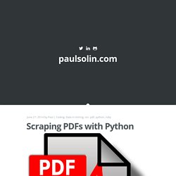 Scraping PDFs with Python