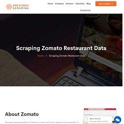 Zomato Restaurant Data Scraping