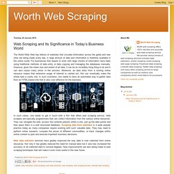 Secure and Beneficial Web Scraping Service from Worth Web Scraping