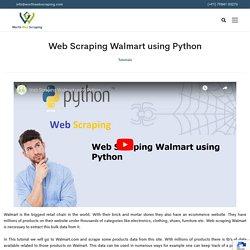 Web scraping Walmart Python to Scrape Walmart Data