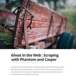 Scraping with Phantomjs