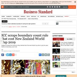 ICC scraps boundary count rule that cost New Zealand World Cup 2019