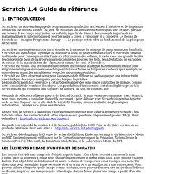 Scratch 1.4 Guide de référence