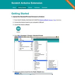 Scratch Arduino Extension