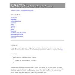 Scratch for CS