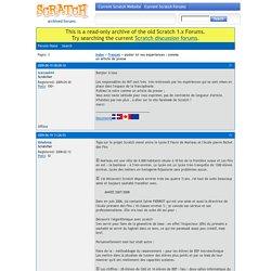 Scratch Forums / poster ici vos expériences : comme un article de presse
