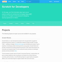 Scratch - Developers