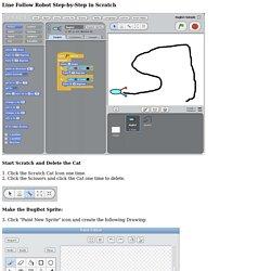 Scratch Project Instructions: Line Follower