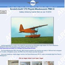 Scratch-built 1/72 Peyret-Mauboussin PMH X by Gabriel Stern