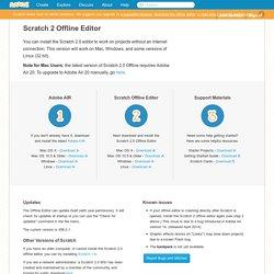 Scratch - Téléchargement éditeur hors ligne