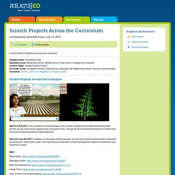 Scratch Projects Across the Curriculum