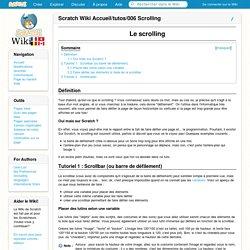 Scratch Wiki Accueil/tutos/006 Scrolling — Français Scratch-Wiki