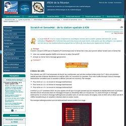 Scratch et SenseHat : de la station spatiale à ICN