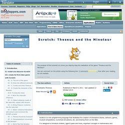 Scratch : Thésée et le minotaure
