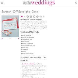 Scratch-Off Save-the-Date How-To