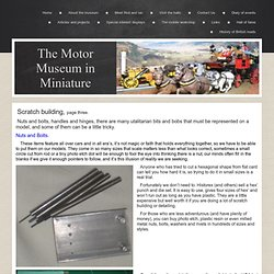 Scratchbuilding model cars page three