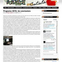 ScratchCatalà - Programa 2010, les conclusions