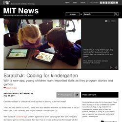 ScratchJr: Coding for kindergarten
