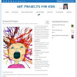 Scream Art Project - Art Projects for Kids