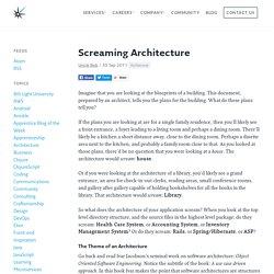 Screaming Architecture