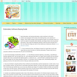Screaming Mimi's Sewing Room at SewMimi.com: Embroidery Software Buying Guide