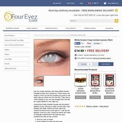 White Screen Crazy Contact Lenses (Pair)