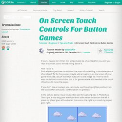 On Screen Touch Controls For Button Games
