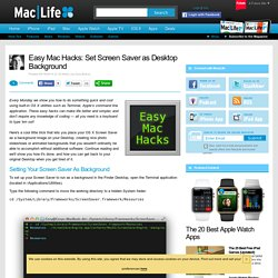 Easy Mac Hacks: Set Screen Saver as Desktop Background