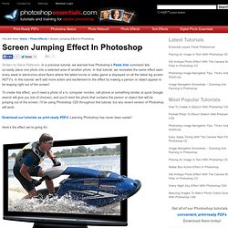 Screen Jumping Effect In Photoshop