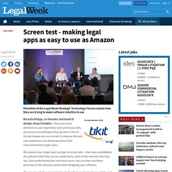 Screen test - making legal apps as easy to use as Amazon