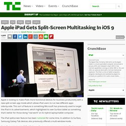 Apple iPad Gets Split-Screen Multitasking In iOS 9