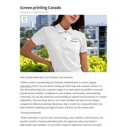 screen printing Canada