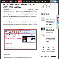 Free Screen Recording Software To Record Screen, Record Webcam