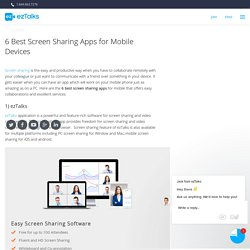 6 Best Screen Sharing Apps for Mobile Devices