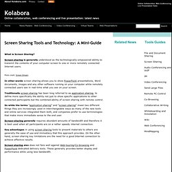 Screen Sharing Tools and Technology: A Mini-Guide - Online Colla