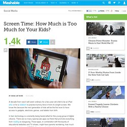 Screen Time: How Much is Too Much for Your Kids?