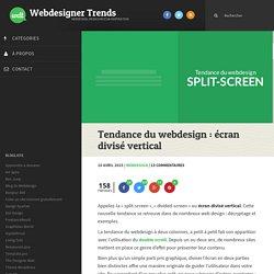 Tendance du webdesign : écran divisé vertical