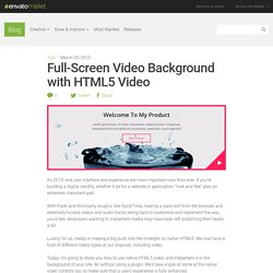 Full-Screen Video Background with HTML5 Video - Blog