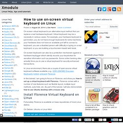 How to use on-screen virtual keyboard on Linux