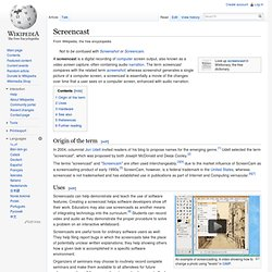 Screencast - Wikipedia, the free encyclope