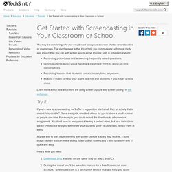 Get Started with Screencasting in Your Classroom or School