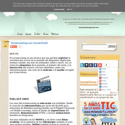 Screencasting con ScreenToGif