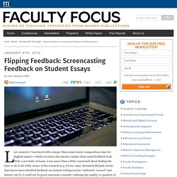 Screencasting Feedback on Student Essays