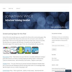 Screencasting Apps for the iPad