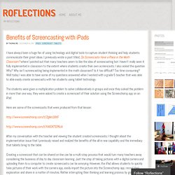 Benefits of Screencasting with iPads « Roflections