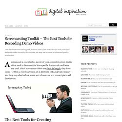Screencasting Toolkit – The Best Tools for Creating Screencast Videos