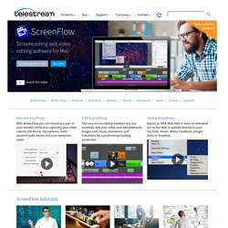 Screencasting and Video Editing Software