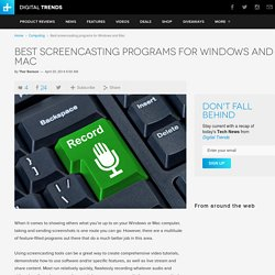 Best Screencasting Tools and Apps for Windows PC and Mac OS X