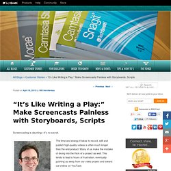 """It's Like Writing a Play:"" Make Screencasts Painless with Storyboards, Scripts"