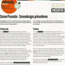 Screen Presenter - Screendesigns präsentieren